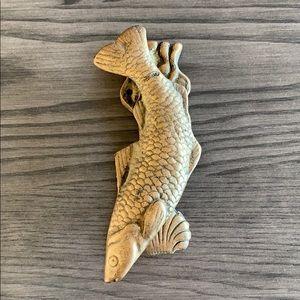 Solid Brass fish door knocker